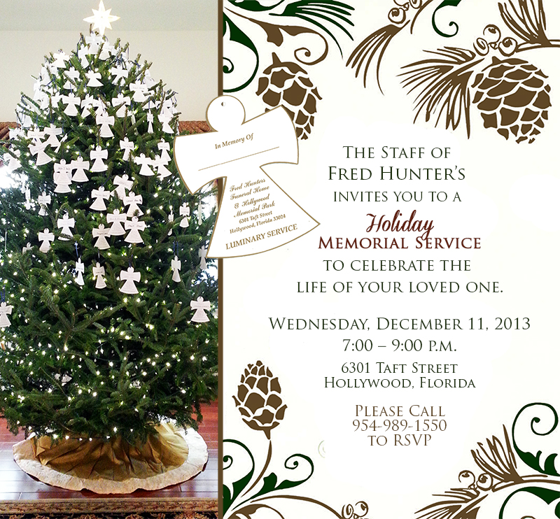 holiday memorial luminary service fort lauderdale funeral home